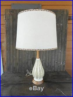 Mid Century Modern FAIP Table Lamp witho Shade Vintage Used Works Retro