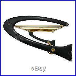 Mid Century Modern Hat & Coat Rack 1950s 5 Hooks Alu Brass Gold Vintage Retro