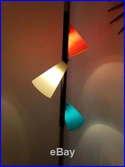 Mid Century Modern Pole Floor Lamp Vintage eames era Retro 1960s