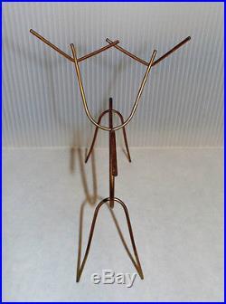 Mid Century Modern Vintage Retro 1950's Christmas Gold Metal Wire Reindeer Set 4