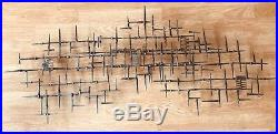 Mid Century Modern Vintage Retro Abstract Wall Metal Nail Sculpture Eames Jere