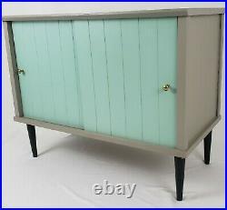 Mid-Century Record Album Storage Stereo Console Cabinet Stand Retro Vintage