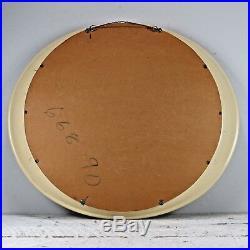 Mid Century Retro Panton Op Pop Space Age Oval Mirror Plastic eames vintage