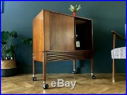 Mid Century Retro Vinyl Storage Cocktail Cabinet Sideboard Vintage Uk Del