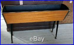 Mid Century Retro Wooden Plant Stand Trough 60's/70's Dansette Legs Vintage