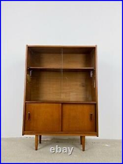 Mid Century Teak Bookcase, Cabinet Vintage, Retro Danish Design Bookshelf