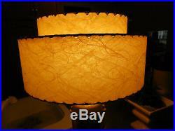 Mid Century Vintage 2 Tier Fiberglass Swirls Lamp Shade Atomic Retro