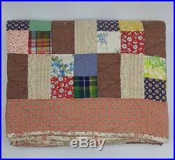 Mid-Century Vintage Patchwork Quilt Retro Blanket Multiple Patterns 88x75