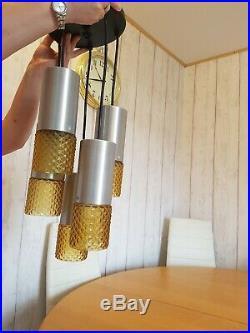 Mid Century Vintage Retro 1960s 70s Cascading Pendant Ceiling Light Fitting