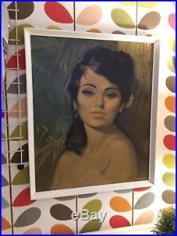 Mid Century Vintage Retro 1960s Tretchikoff Style'Nina' Framed Print