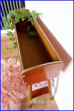 Mid Century Vintage Retro Atomic 1960s Planter / Plant Stand / Shelf