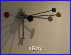 Mid Century Vintage Retro French Atomic Coat Rack Serjac 50s 60s Eames Wall
