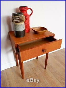 Mid Century Vintage Retro Meredew Bedside Cabinet Side Table 1960s 70s