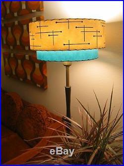 Mid Century Vintage Style 2 Tier Fiberglass Lamp Shade Modern Atomic Retro IT18I