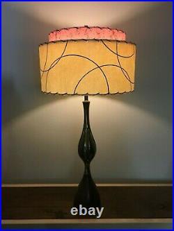 Mid Century Vintage Style 2 Tier Fiberglass Lamp Shade Modern Atomic Retro Pink