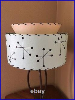 Mid Century Vintage Style 2 Tier Fiberglass Lamp Shade Modern Atomic Retro SF