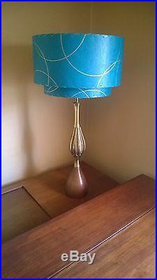 Mid Century Vintage Style 2 Tier Fiberglass Lamp Shade Modern Atomic Retro TLI