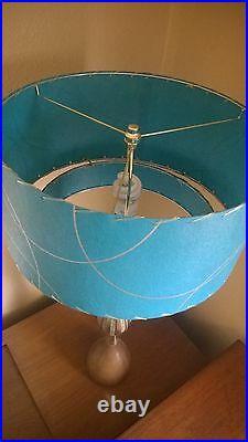 Mid Century Vintage Style 2 Tier Fiberglass Lamp Shade Modern Atomic Retro TTT