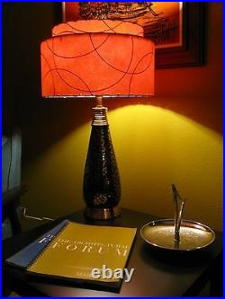 Mid Century Vintage Style 2 Tier Fiberglass Lamp Shade Modern Retro MCM BO2