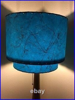 Mid Century Vintage Style 2 Tier Fiberglass Lamp Shade Retro 15X12 Teal