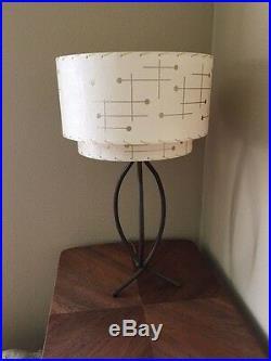 Mid Century Vintage Style 2 Tier Fiberglass Lamp Shade Starburst Retro Ivory