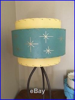 Mid Century Vintage Style 3 Tier Fiberglass Lamp Shade Atomic Retro Starburst