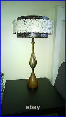 Mid Century Vintage Style 3 Tier Fiberglass Lamp Shade Modern Atomic Retro BLKIV