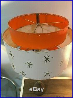 Mid Century Vintage Style 3 Tier Fiberglass Lamp Shade Modern Atomic Retro Iv/T