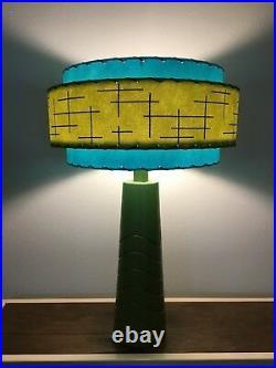 Mid Century Vintage Style 3 Tier Fiberglass Lamp Shade Modern Atomic Retro OTQ