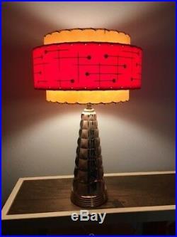 Mid Century Vintage Style 3 Tier Fiberglass Lamp Shade Modern Atomic Retro RW3