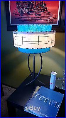 Mid Century Vintage Style 3 Tier Fiberglass Lamp Shade Modern Atomic Retro TI3