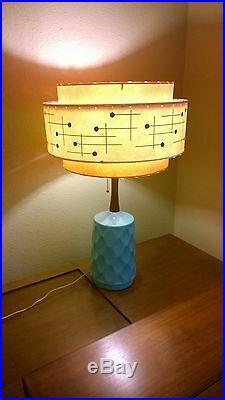 Mid Century Vintage Style 3 Tier Fiberglass Lamp Shade Modern Atomic Retro TWI3