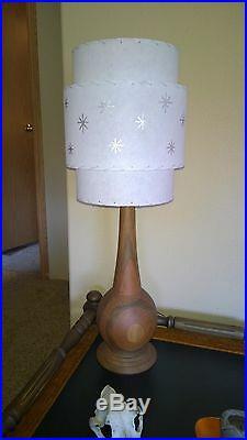 Mid Century Vintage Style 3 Tier Fiberglass Lamp Shade Modern Atomic Retro WithSLV