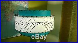 Mid Century Vintage Style 3 Tier Fiberglass Lamp Shade Modern Atomic Retro tw#