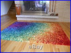 Mid century Danish Ege Rya rainbow shag rug carpet retro vintage Denmark
