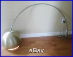 Mid-century chrome eyeball wall lamp arc retro space age moderne vintage