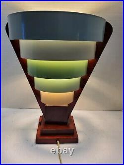 Mid century modern metal bands beehive lamp