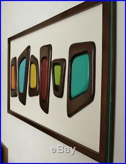 Mid-century modern wall sculpture 1960s modern art design