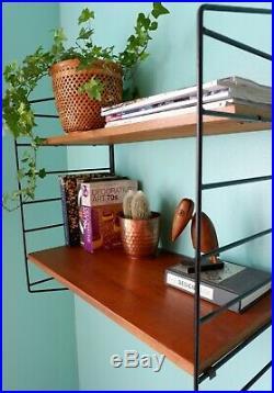 Mid century vintage retro 1960s Swedish Nils Strinning shelving system shelf