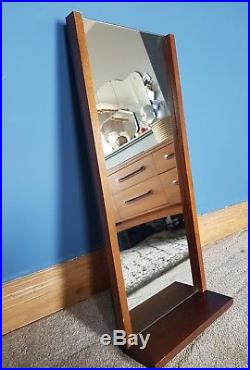 Mid century wall mirror with shelf hall mirror retro vintage 60s mcm