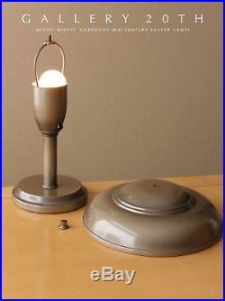 Minty! MID Century Library Saucer Lamp! 50's Vtg Atomic Light Ufo Modern Retro