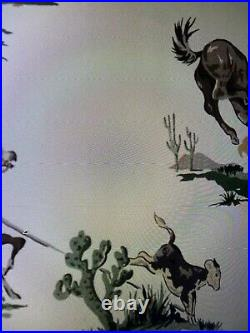NEW Vtg 50's COWBOY WESTERN 2 ROLL Mid Century Retro Atomic Wall Paper wallpaper