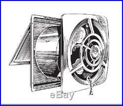 Attirant NOS VINTAGE Mid Century Modern Retro NUTONE 8010 Kitchen Exhaust WALL FAN 8