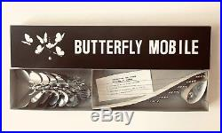 NOS Vtg BUTTERFLY Mobile Otagiri Mid Century Metal retro 70s Mod Décor Japan