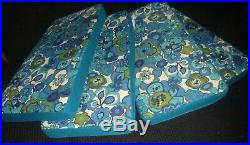 NOS Vtg Mid Century Flower Power Furniture Couch Cushion Turquoise Blue Green