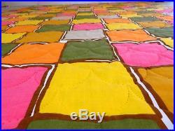 NOS Vtg RETRO SPACE AGE COMFORTER Quilted Bedspread Blanket MID CENTURY Panton