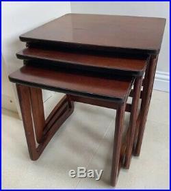 Nathan Burlington Danish Teak Nest of Tables Retro Vintage Mid Century