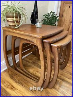 Nathan Teak Mid Century Vintage Retro Nest Of Tables Occasional Side Table