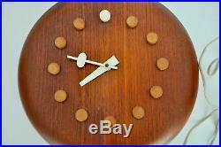 Nelson Howard Miller Fritz Hansen Vtg Mid Century Danish Modern Wall Clock Retro