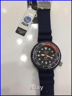 New Seiko SNE499P1 PADI Divers Blue band Pepsi Dial solar tuna 46.7MM 200m